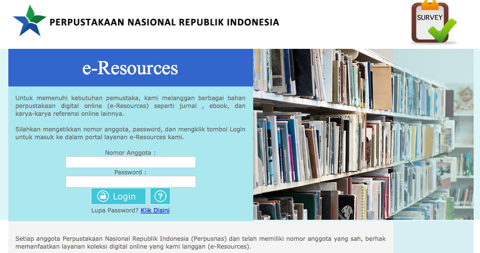 Layanan e-Resources Perpustakaan Nasional Republik Indonesia