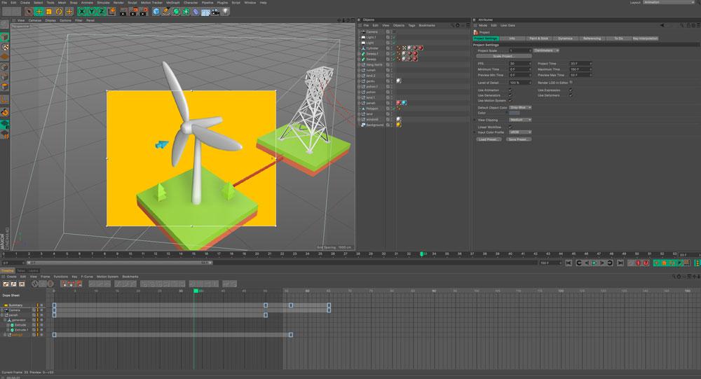 Perancangan model dan animasi dalam 3 dimensi