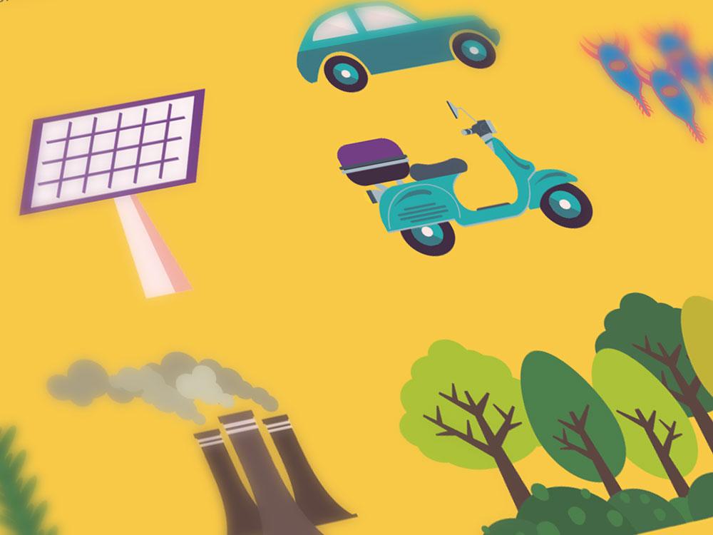 Style frame animasi mengenal sumber energi terbarukan