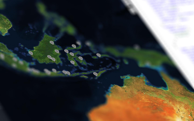 Data GeoJSON yang ditampilkan dalam peta