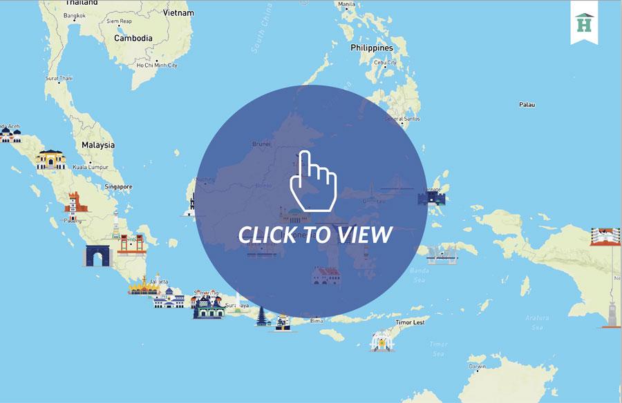 Klik untuk melihat Peta Interaktif: Indonesia City Landmark