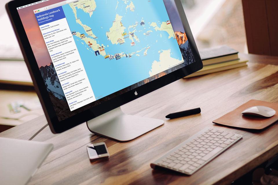 Peta Interaktif Landmark Indonesia